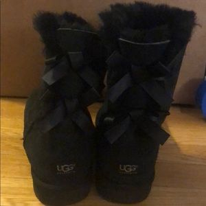 Black Bow Ugg Boots